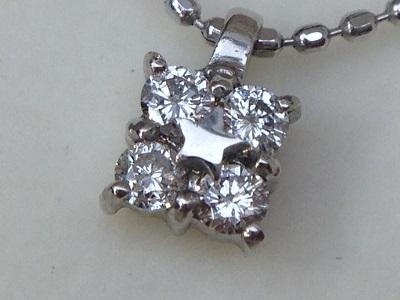 スタージュエリー(STAR JEWELRY) ダイヤモンドネックレス 0.10ct K18WG
