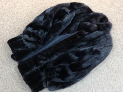 毛皮 ミンク ショートコート ブラック