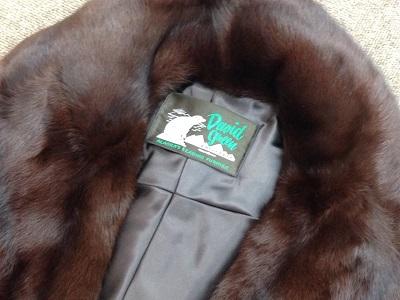 毛皮 コート ブラウン