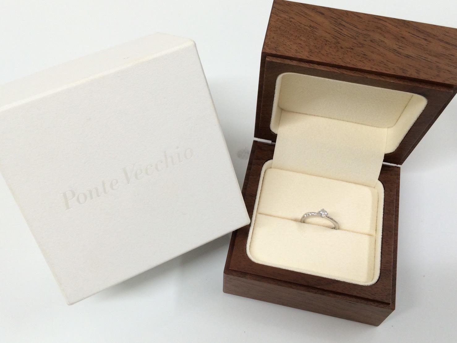 ポンテヴェキオ買取 ダイヤモンドリング メレダイヤモンド プラチナ ブランドジュエリー