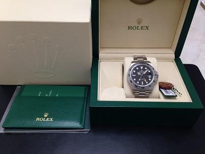 ROLEX ロレックス エクスプローラー2 Ref.216570 黒文字盤 SS ステンレス スポーツモデル 腕時計 高価買取 宅配買取 西日本