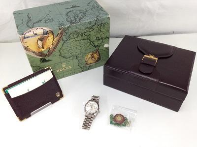 ROLEX ロレックス デイデイト Ref.18239A ダイヤモンドインデックス 750WG ホワイトゴールド 腕時計 機械式時計 高価買取 宅配買取 西日本