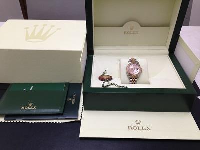 ROLEX ロレックス デイトジャスト レディース Ref.179171G コンピューター文字盤 彫りコン SS ステンレス PG ピンクゴールド コンビ ダイヤモンドインデックス 腕時計 高価買取 宅配買取 西日本