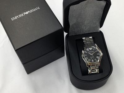 Emporio Armani エンポリオアルマーニ メンズウォッチ AR0681 SS 腕時計 宅配買取