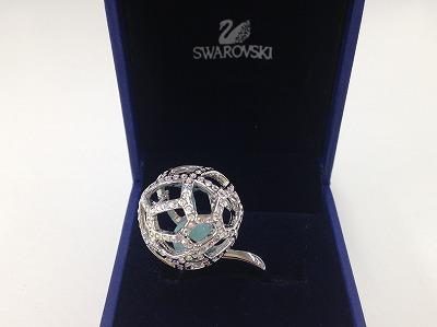 SWAROVSKI スワロフスキー レースデザインドームリング クリスタル ブランドジュエリー 宅配買取