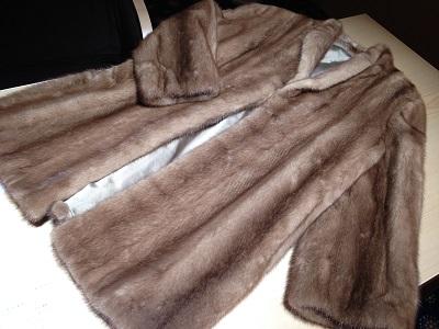 毛皮コート ミンク ハーフサイズ ブラウン 中古 高価買取
