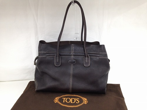 TODS トッズ トートバッグ レザー 茶色 宅配買取