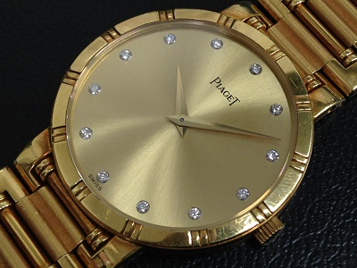 PIAGET ピアジェ ダンサー 12Pダイヤモンドインデックス 750YG イエローゴールド メンズ 腕時計 金無垢 高価買取 出張買取