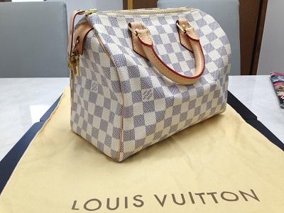 LOUIS VUITTON ルイヴィトン スピーディ25 アズール N41371 ハンドバッグ 美品 高価買取 四条店