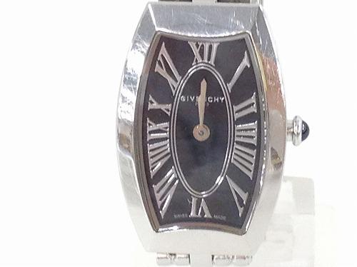 ジバンシィ(GIVENCHY)レディースウォッチ 黒文字盤 ステンレス 宅配買取 腕時計