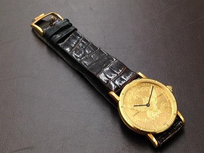 CORUM コルム コインウォッチ 750YG イエローゴールド 革ベルト 腕時計 高価買取 七条店