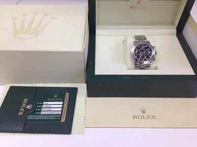 ロレックス(ROLEX) コスモグラフ デイトナ 116520 クロノグラフ SS 黒 美品 渋谷 買取