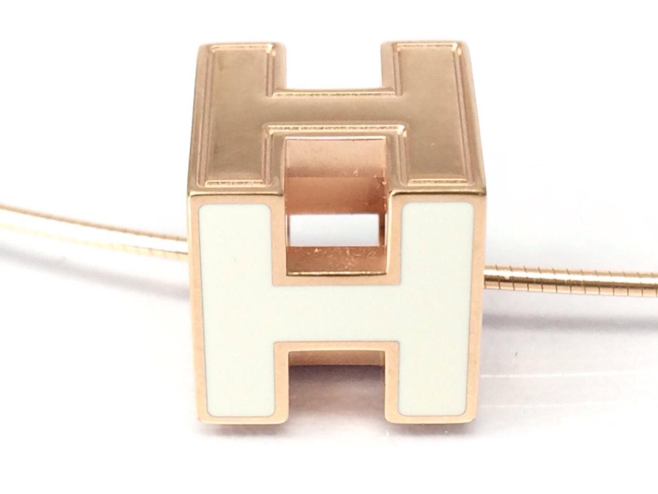エルメス(HERMES) Hキューブネックレス アクセサリー ブランド