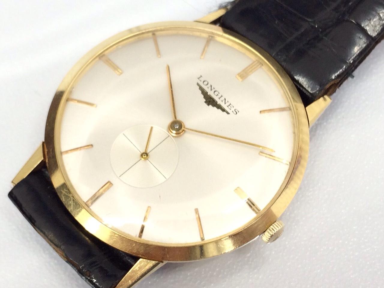 出張買取 ロンジン アンティークウォッチ 金 腕時計