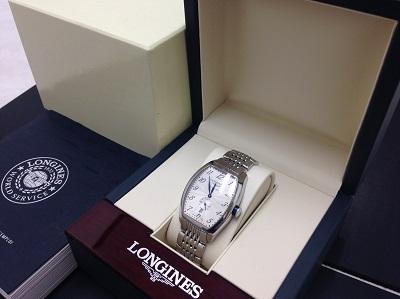LONGINES ロンジン エヴィデンツァ SS ステンレス ギョーシェ彫り 腕時計 高価買取 七条店