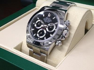 ROLEX ロレックス デイトナ Ref.116520 黒文字盤 クロノグラフ 腕時計 高価買取 七条店