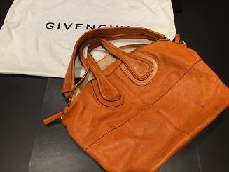 Givenchy ジバンシィ ナイチンゲール 2wayバッグ カーフ オレンジ ブランド品 買取 福岡 天神