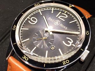 Bell&Ross ベル&ロス ゴールデン ヘリテージ BRV123 SS 革 時計 買取 福岡 天神 博多