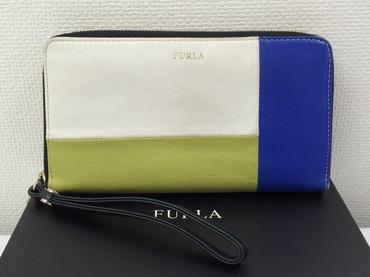 フルラ(FURLA) ラウンドファスナー 長財布 レザー 中古品 高価買取 渋谷店