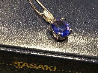 TASAKI タサキ サファイアペンダント Pt900 ブランドジュエリー 買取 福岡 天神 博多