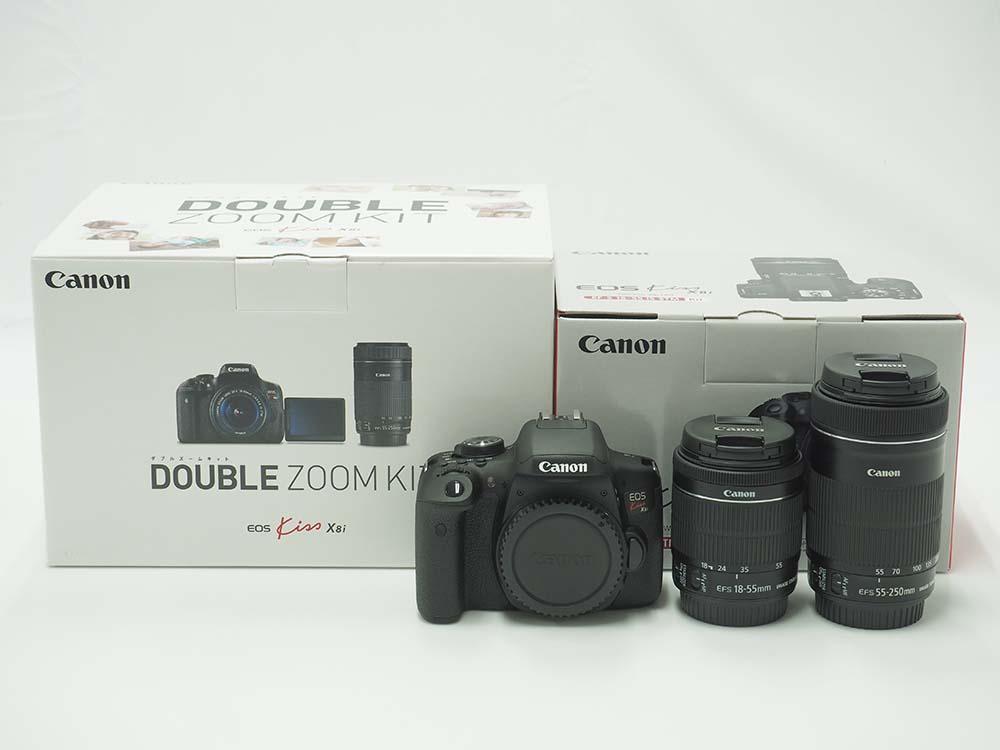 Canon キヤノン EOS Kiss X8i イオスキス ダブルズームキット デジタル一眼レフカメラ