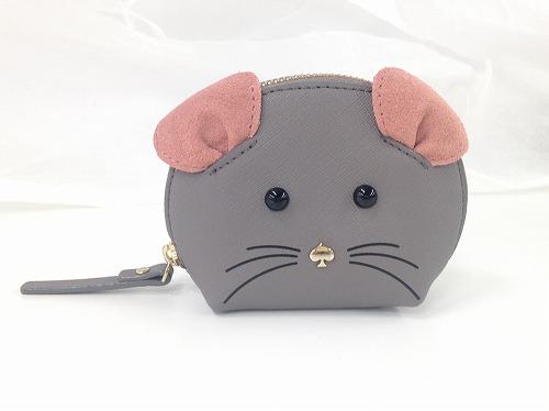 ケイトスペード (katespadenewyork)アニマルコインケース ネズミ サフィアーノ 状態良好