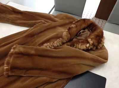 毛皮 ミンク シェアードミンク ブラウン ロングコート アパレル 高価買取 西院 西京極 七条店
