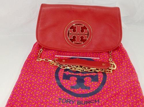 トリーバーチ(TORYBURCH) チェーンショルダーバッグ レザー 赤 宅配買取 ブランドバッグ