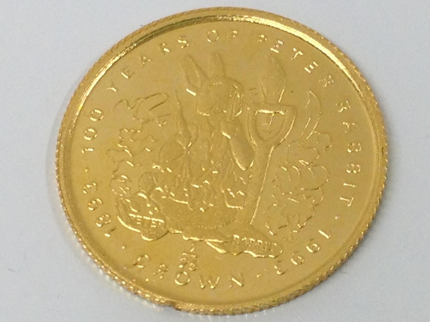 純金(K24) ピーターラビット メダル コイン1/25 渋谷 金 買取