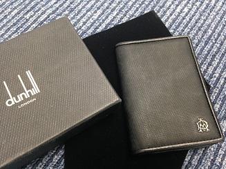 Dunhill ダンヒル カードケース カーフ グレー