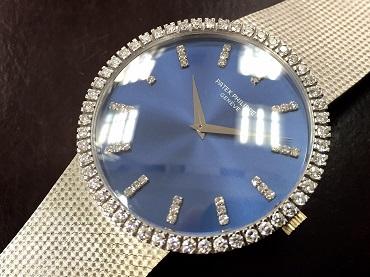 PATEK PHILIPPE パテックフィリップ メンズウォッチ 750WG ダイヤベゼル 時計買取 福岡 天神 博多