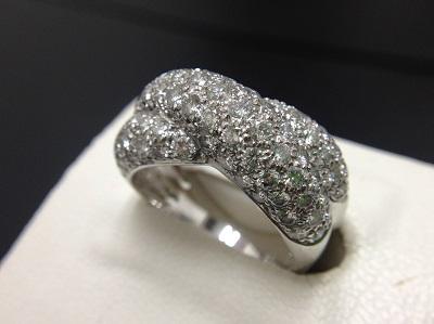 VanCleef&Arpels ヴァンクリーフ&アーペル ヴィンテージリング ダイヤモンド Pt950 プラチナ ジュエリー 高価買取 七条店 西院