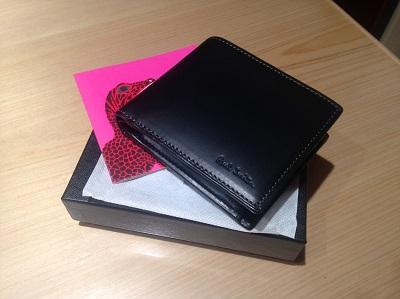 ポールスミス(Paul Smith) 2つ折り財布 レザー 黒 未使用品 渋谷 買取