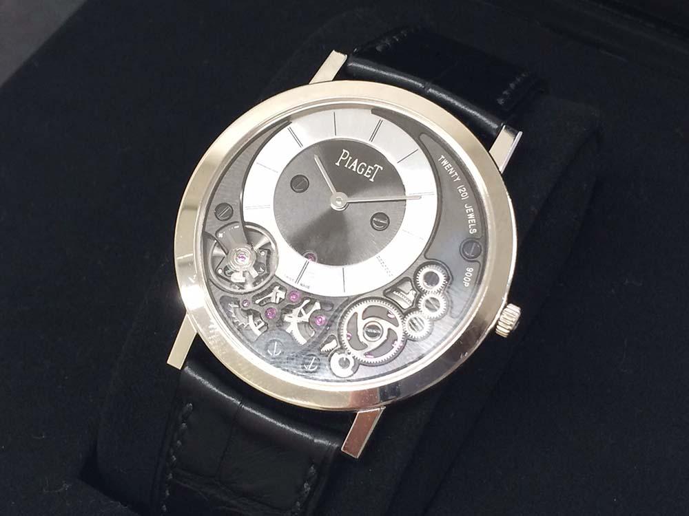 PIAGETピアジェ アルティプラノ P10920 750WG×クロコ 銀座 時計買取