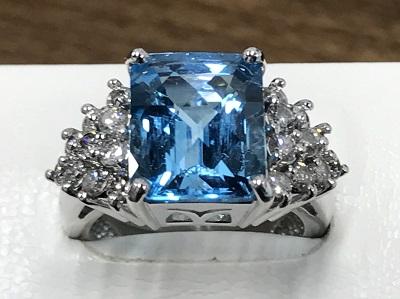 アクアマリン ダイヤモンド Pt900 石目無し プラチナ 宝石 貴金属 渋谷 買取