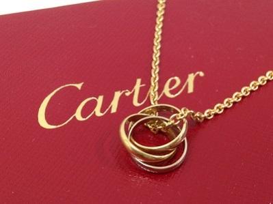 Cartier カルティエ トリニティ ペンダント 750 ネックレス スリーゴールド