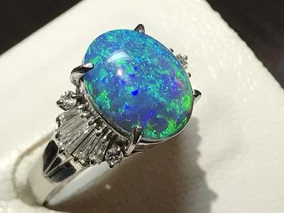 オパール 指輪 リング ダイヤモンド(DIAMOND)
