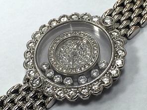 Chopard ショパール ハッピーダイヤモンド  ホワイトゴールド 高級腕時計 買取 福岡 天神 博多 質屋