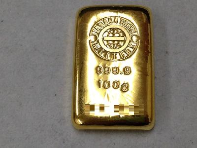 貴金属 K24 純金 インゴット 100g 地金 金 買取 銀座 価格高騰