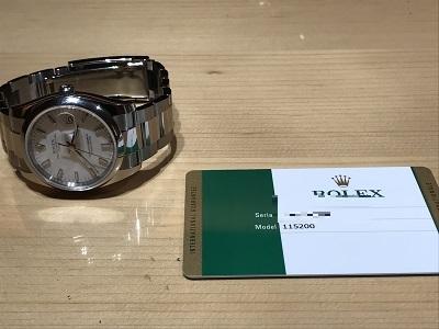 ロレックス(ROLEX) オイスターパーペチュアル デイト 115200 時計 京都 四条 烏丸 河原町 買取