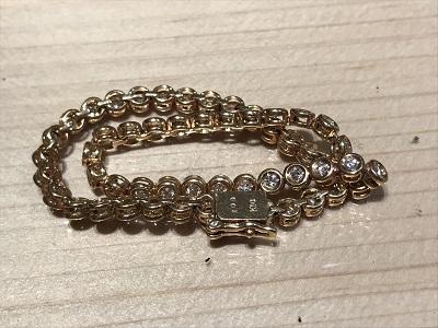 テニスブレス 貴金属 ダイヤ K18 ダイヤモンド(DIAMOND)宝石 買取 京都 四条 烏丸 河原町