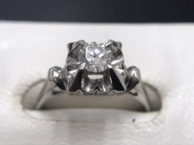 ダイヤモンドリング Pt850 0.31ct プラチナ 宝石 貴金属 七条 京都 大阪 名古屋 買取