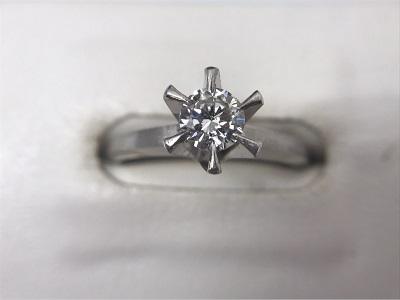 ダイヤモンドリング Pt900 0.35ct 宝石 ジュエリー 高価買取 マルカ 宅配買取