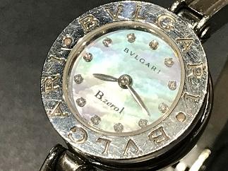 BVLGARI ブルガリ B-zero1 BZ22S ブルーシェル ダイヤモンドインデックス 時計買取 質屋 福岡 天神 博多 薬院 赤坂