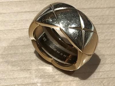 シャネル(CHANEL) マトラッセ リング 750 指輪 ジュエリー ブランド 買取 京都 四条 烏丸 河原町