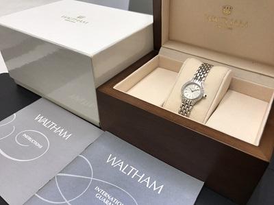WALTHAM ウォルサム レディースウォッチ ダイヤベゼル 750WG ホワイトゴールド 腕時計 高価買取 出張買取