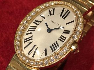 Cartier カルティエ ベニュワール WB520019 ダイヤベゼル 750YG 時計買取 質屋 高い 福岡 天神 博多 薬院 赤坂