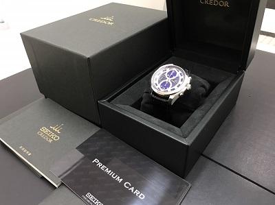 SEIKO セイコー クレドール シグノ メカニカルクロノグラフ GCBK979 腕時計 高価買取 出張買取