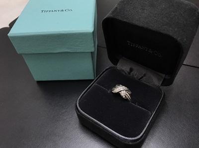 TIFFANY&Co. ティファニー シグネチャリング ダイヤ入り 750WG ホワイトゴールド ブランドジュエリー 高価買取 七条店 西院