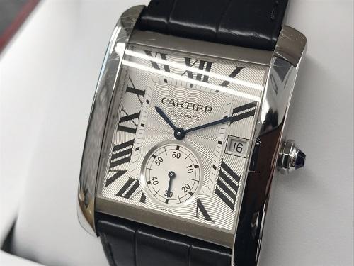 カルティエ タンクMC W5330003 SS×レザー 時計買取 大阪心斎橋店
